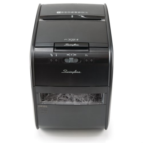 Swingline® Stack-and-Shred™ 80X Auto Feed Shredder, Cross-Cut, 80 Sheets, 1 User