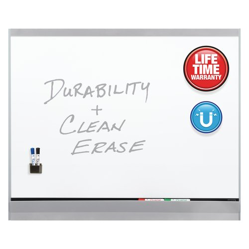 Quartet® Platinum Plus DuraMax® Porcelain Magnetic Whiteboards, Aluminum Finish Frame