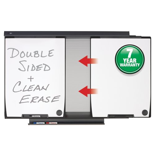 "Quartet Motion® Conference System, 42 1/2"" x 60"", 2 Total Erase® Whiteboards"
