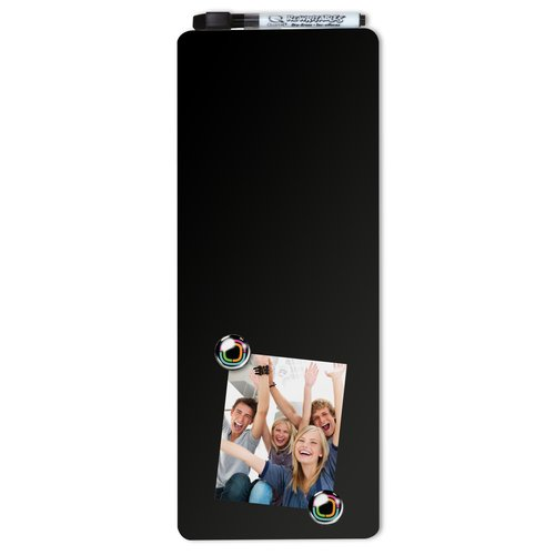 Quartet Magnetic Dry-Erase Strip Black 140x360mm