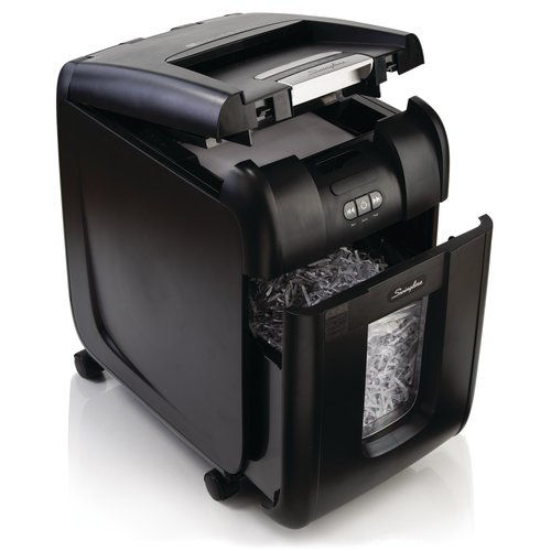 Swingline® Stack-and-Shred™ 200X Hands Free Shredder, Super Cross-Cut, 200 Sheets, 1-5 Users
