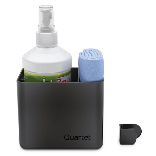 Quartet® Prestige 2 Connects™ Cleaning Dry-Erase Kit, Caddy, 16 oz. Bottle & Magnetic Cloth