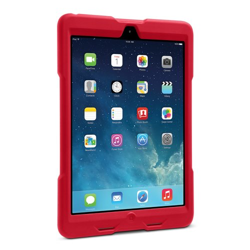 Funda resistente BlackBelt 1st Degree para iPad® Air: rojo