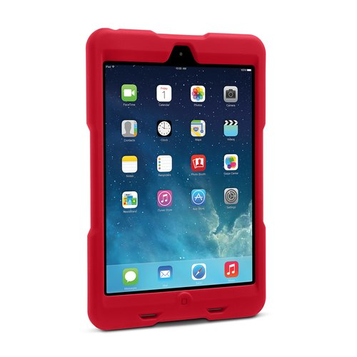 Funda resistente BlackBelt 1st Degree para iPad mini: rojo