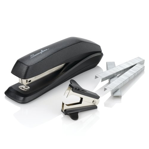 Swingline® Standard Stapler Value Pack, 15 Sheets, Black, Premium Staples & Remover Included