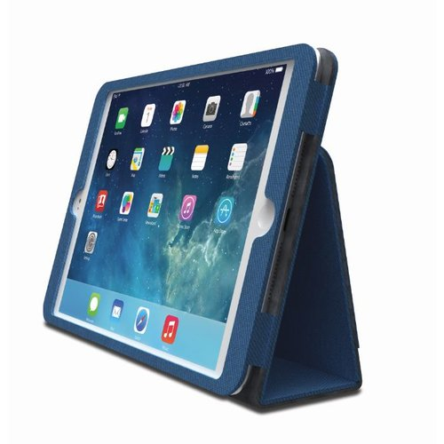 Comercio™  Soft Folio Case & Stand for iPad® Air - Blue
