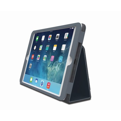 Comercio™  Soft Folio Case & Stand for iPad® Air - Slate Grey