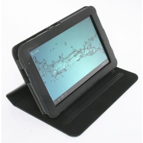 Galaxy Tab 2 7.0 Folio Case Leather Inspired - Black