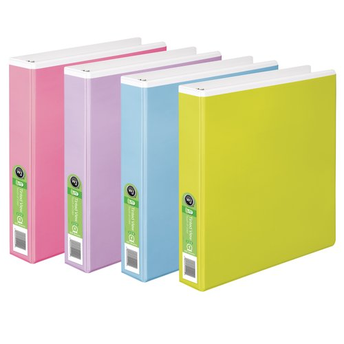 "Wilson Jones® Tinted View Round Ring Binder, 1"" Ring, 8 1/2"" x 5 1/2"" Sheets"