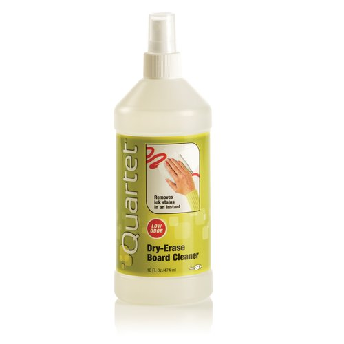 Quartet® Whiteboard/Dry-Erase Board Cleaner, Spray, 16 oz. Bottle