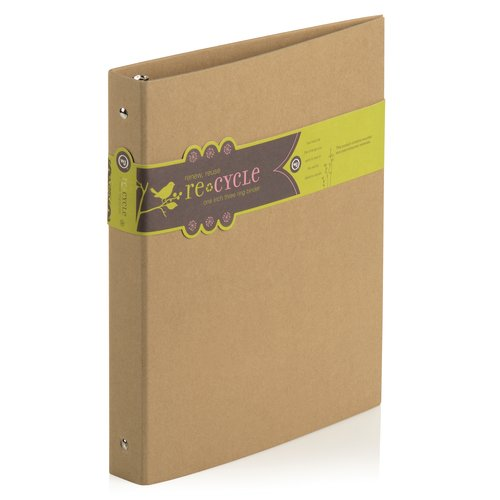 "Wilson Jones® Resource Recycled Kraft Binder, Round Ring, 1"", Kraft Brown"