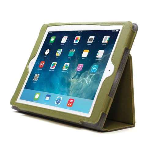 Comercio™  Soft Folio Case & Stand for iPad® Air - Olive