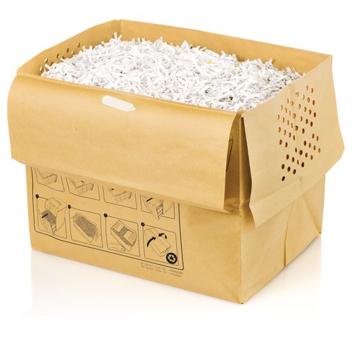 Swingline® 11 Gallon Recyclable Paper Shredder Bags, For Stack-and-Shred™ 250X, 300X and 300M Hands Free Shredders, 5/Pack