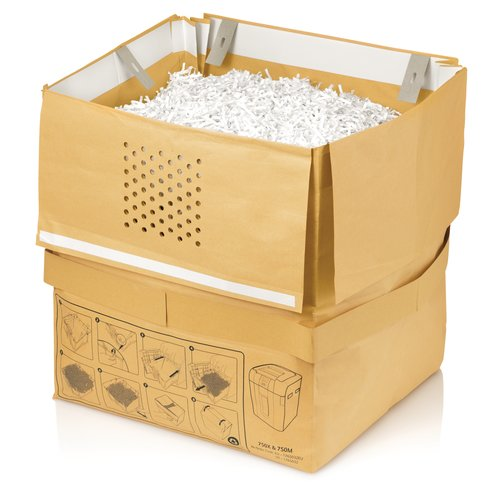 Swingline® 31 Gallon Recyclable Paper Shredder Bags, For Stack-and-Shred™ 750X & 750M Hands Free Shredders, 5/Pack