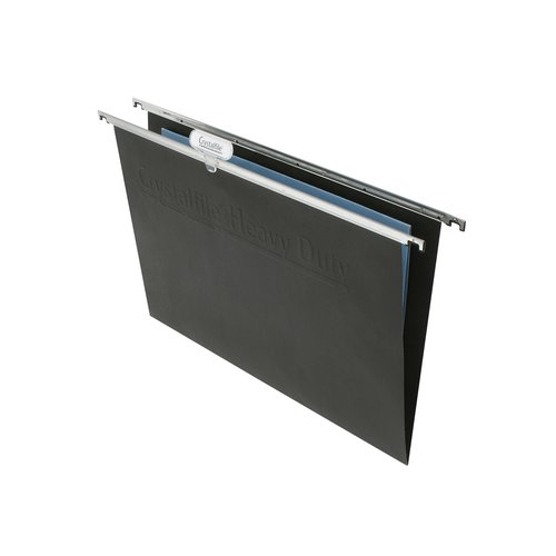 Crystalfile Heavy Duty Suspension Files Foolscap Black (10)
