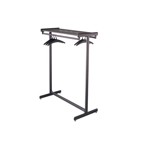 "Quartet® Double-Sided Garment Rack, Freestanding, 48"", Black"