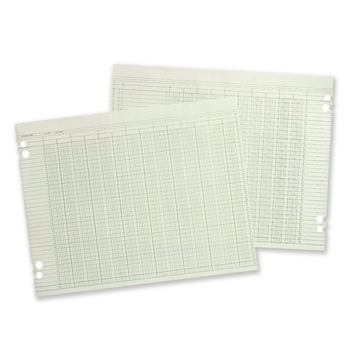 "Wilson Jones® Columnar Ruled Sheets, 9 1/4"" x 11 7/8"", 30 Lines, 16 Columns, 100/Pack"