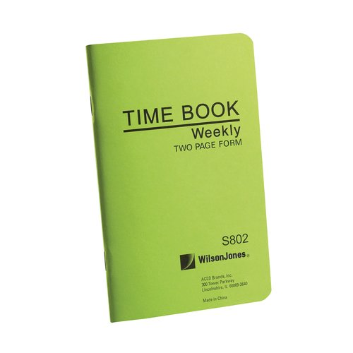 "Wilson Jones® Foreman's Time Book, 6 3/4"" x 4 1/8"", Pocket Size, 2 pg/week"