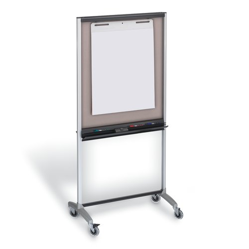 "Quartet® 3-In-1 Total Erase® Easel, Whiteboard, Display, Room Divider, 36"" x 76"""