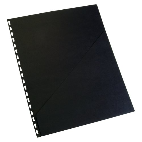 Swingline™ GBC® ZipBind® Pre-Punched Pocket Folder, Black, 10 Pack