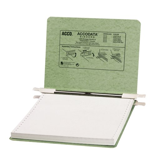 "ACCO® PRESSTEX® Covers w/ Hooks, Unburst, 9 1/2"" x 11"" Sheets, Light Green"