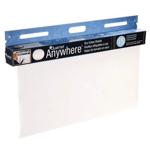 Quartet® Anywhere™ Dry-Erase Sheets, 15 Sheet Roll