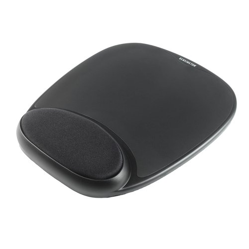 Gel Mouse Pad with Integral Wrist Rest Black