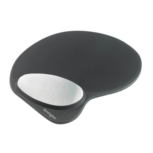 Memory Gel Mouse Pad with Integral Wrist Rest Black