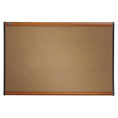 Quartet® Prestige® Colored Cork Bulletin Boards, Light Cherry Finish Frame