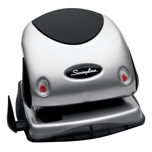 "Swingline® EasyView™ 2-Hole Punch, 1/4"" Hole Size, 20 Sheets"