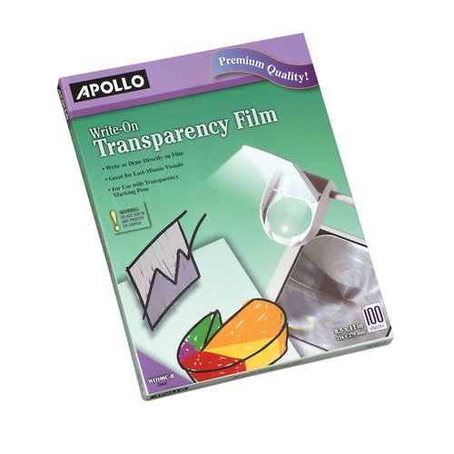 Apollo® Write-On Transparency Film, 100 Sheets