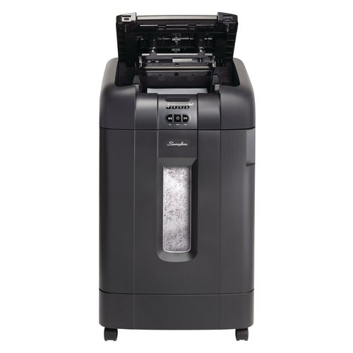 Swingline® Stack-and-Shred™ 750X Auto Feed Shredder, Super Cross-Cut, 750 Sheets, 20+ Users
