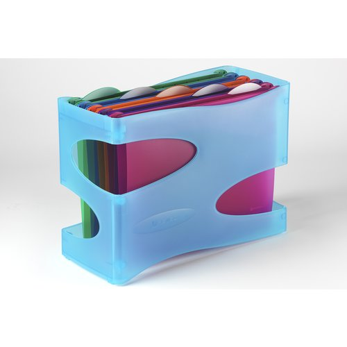 Multifile Extra Organisa Desk Organiser Light Blue