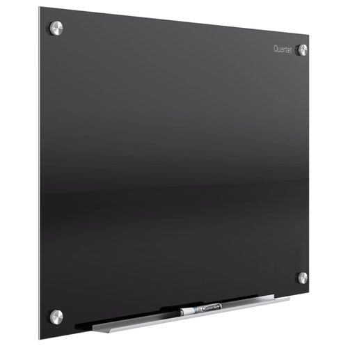 Quartet® Infinity™ Magnetic Glass Marker Boards, Black Surface