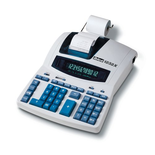Ibico 1232X Professional Print Calculator White/Blue