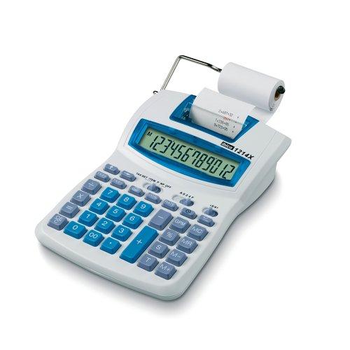 Ibico 1214X Semi-Professional Print Calculator White/Blue
