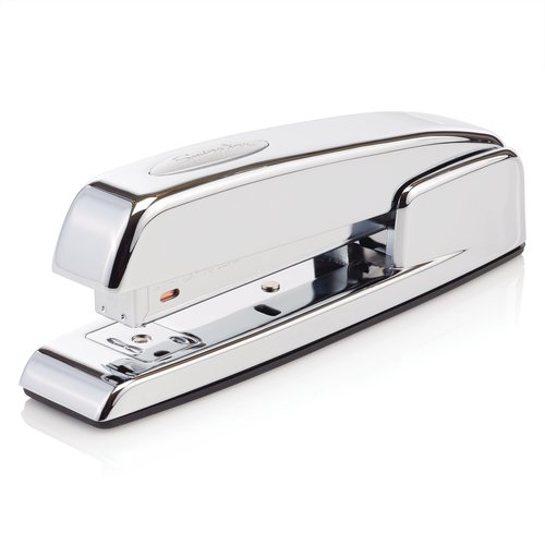 Swingline® 747® Polished Chrome Stapler, 20 Sheets, Silver Chrome