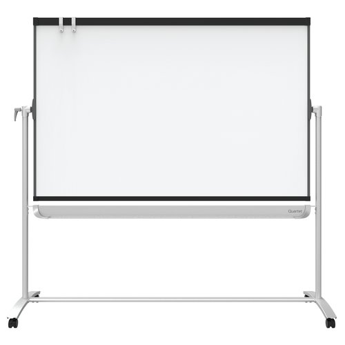 Quartet® Prestige® 2 Mobile Presentation Easel, Reversible Magnetic Whiteboard/Flipchart, 4' x 3', Graphite Frame