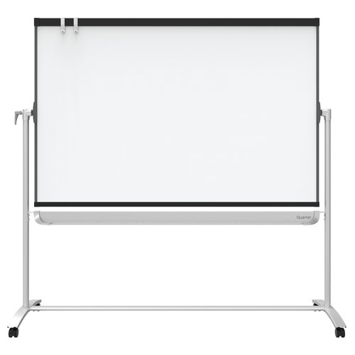 Quartet® Prestige® 2 Mobile Presentation Easel, Reversible Magnetic Whiteboard/Flipchart, 6' x 4', Graphite Finish Frame