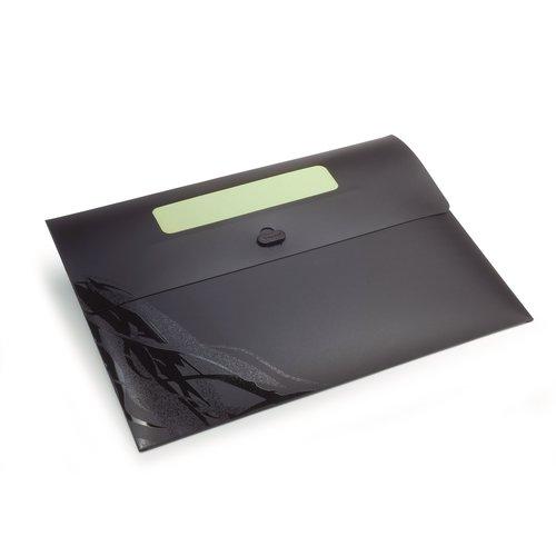 Ecodesk dokumentportfölj, svart, A4 (3)