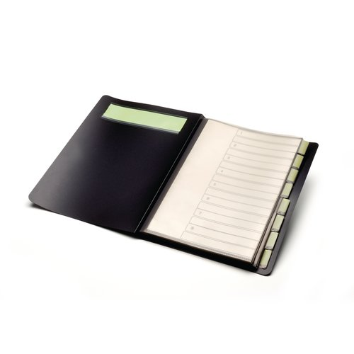 Ecodesk 8 Part Organiser File Black