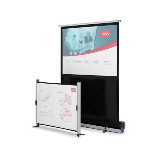 Portable Floorstanding Projection Screen 1220 x 910mm