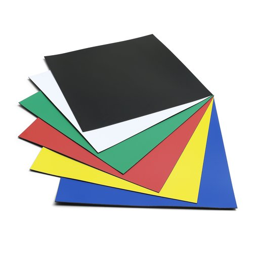 Magnetic Squares 150mm Assorted Colours (6)
