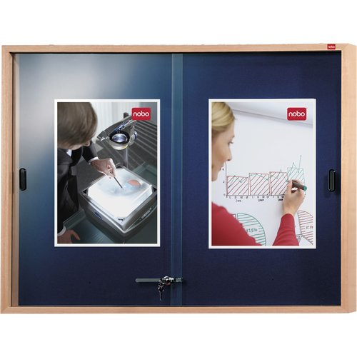 Internal Display Case Blue Felt with Wooden Frame 1000x825mm
