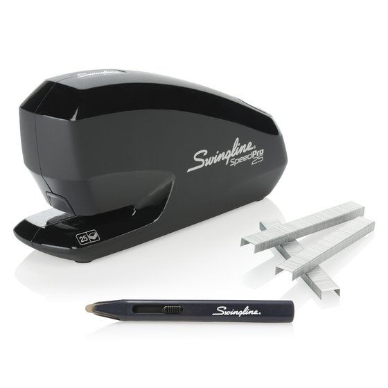 Swingline® Speed Pro™ 25 Electric Stapler Value Pack, 25 Sheet Stapler, 5,000 S.F.® 4® Premium Staples, Staple Remover