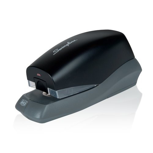 Swingline® Breeze Automatic Stapler, Battery Powered, 20 Sheets, Black