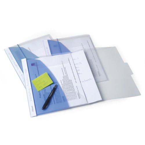 Rexel Smart Desk Flap Folder Blue (5)