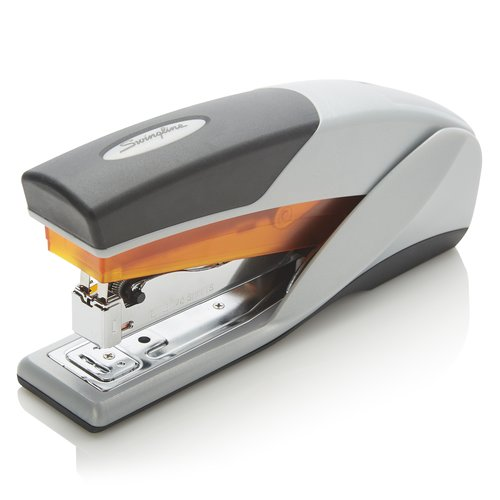Swingline® Optima® 25 Reduced Effort Stapler, 25 Sheets, Gray/Orange