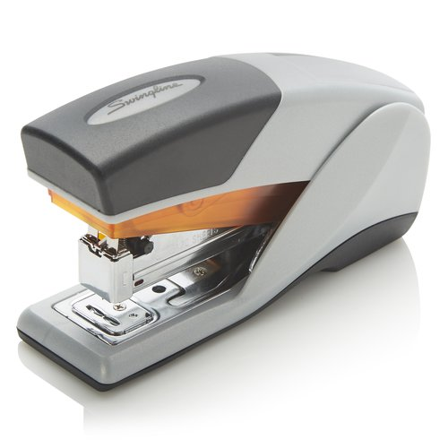 Swingline® Optima® 25 Compact Reduced Effort Stapler, 25 Sheets, Gray/Orange