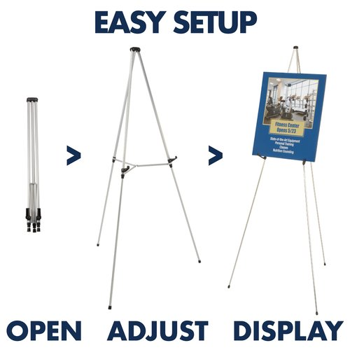 Quartet® Flipchart Pad Retainer Accessory, for 50E/55E Telescoping Display Easels, Silver